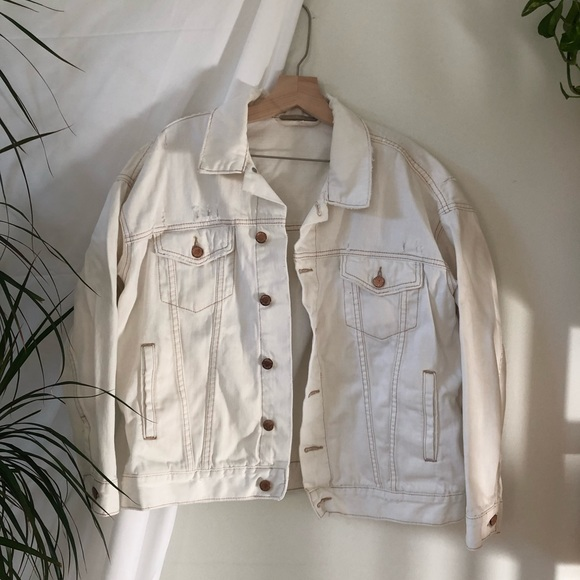 Free People White Denim Jacket